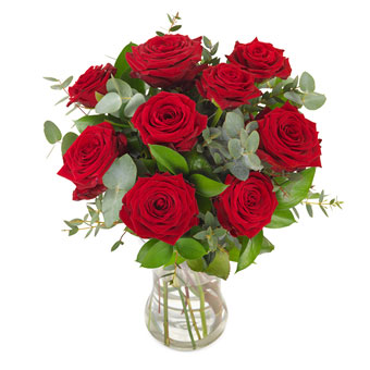 Love stoned Red roses