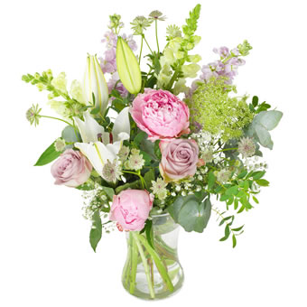 Soft pink field bouquet