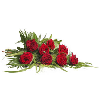 Funeral bouquet red