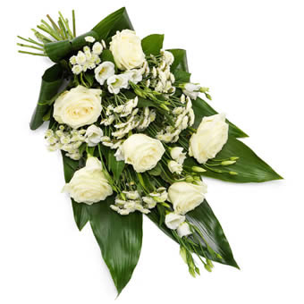 Funeral sheaf white