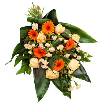 Warm funeral bouquet