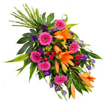 Funeral bouquet bright