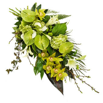 Funeral bouquet green