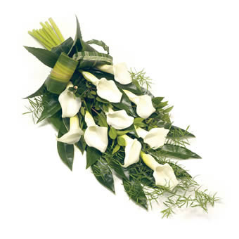 Calla Lily funeral bouquet