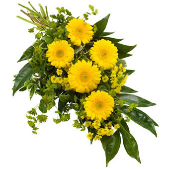 Funeral sheaf in yellow