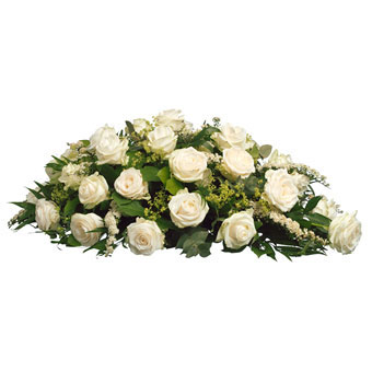 Funeral arrangement white roses