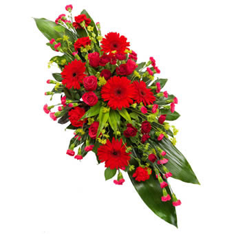 Red & Cerise Funeral Spray