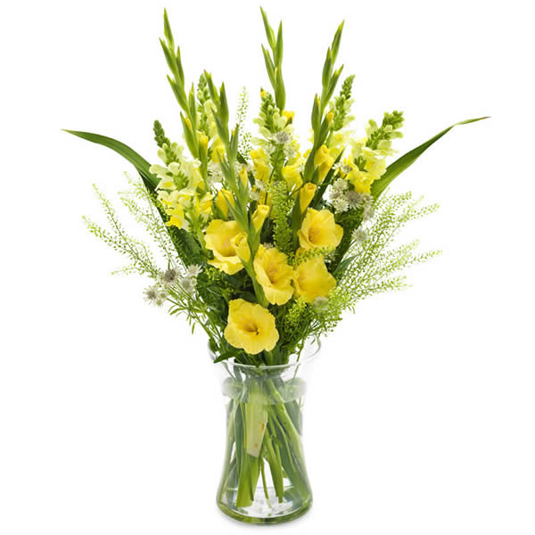 High Bouquet In Yellow Colours With Gladiolus