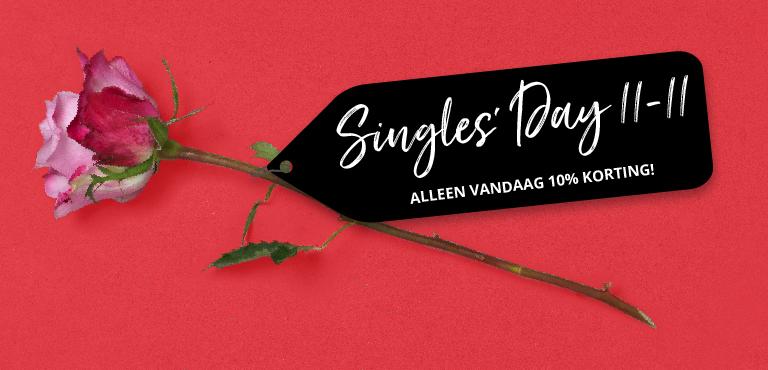 Single's day bloemen - 10% korting met code SD2019