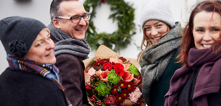 Sending flowers abroad