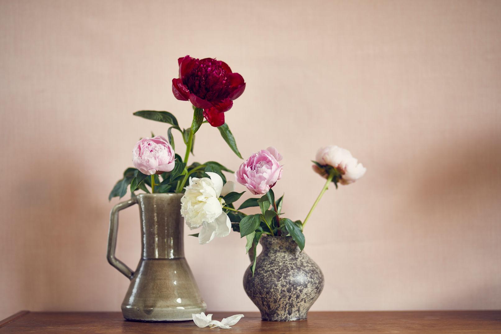 Zet de bloemen in een schone vaas en zorg dat er geen blad in het water komt om vroegtijdige rotting te voorkomen.